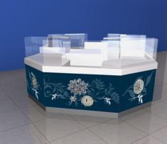 торговый остров для реализации ювелирных изделий из серебра