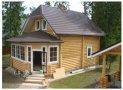 Рубленый дом с эркером