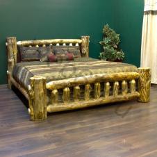 кровать рубленая