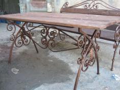 Садовая мебель с элементами ковки