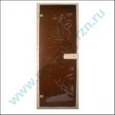 Дверь для бани и сауны стеклянная