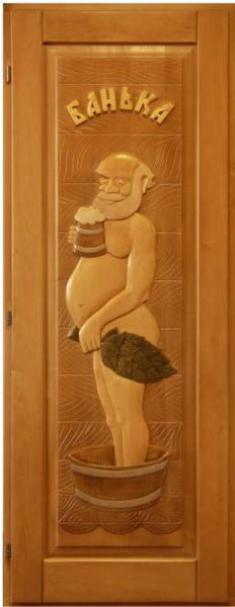 Двери для сауны и бани деревянные