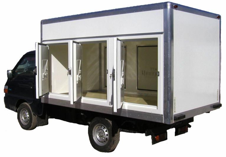Фургон из сэндвич-панелей под перевозку мороженого