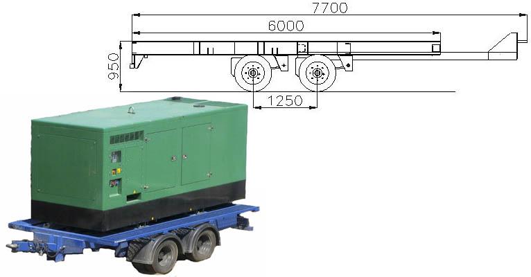 Прицеп для транспортировки дизель-генераторных установок