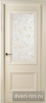 Дверь шпонированная Франческо (Слоновая кость) остекленное