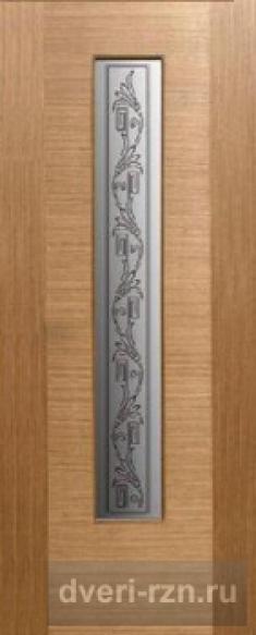 Дверь шпонированная Рондо дуб остекленное