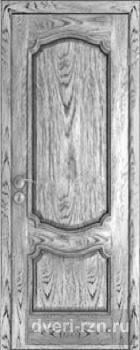 Дверь шпонированная Престиж патина серебро