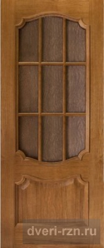 Дверь шпонированная Престиж дуб остеклённая