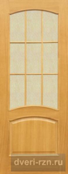 Дверь шпонированная Капри-3 остеклённая дуб