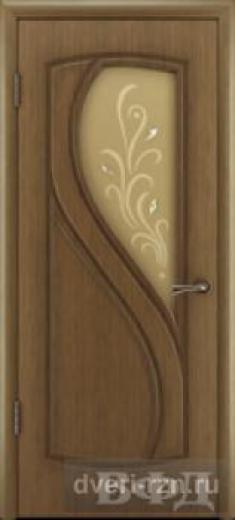 Дверь шпонированная Грация орех остеклённое
