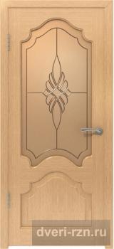 Дверь шпонированная Венеция остекленное