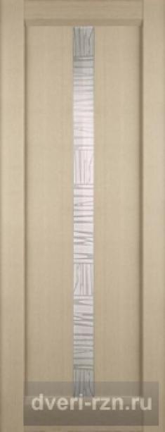 Дверь Челси остеклённая клен серебристый (экошпон)