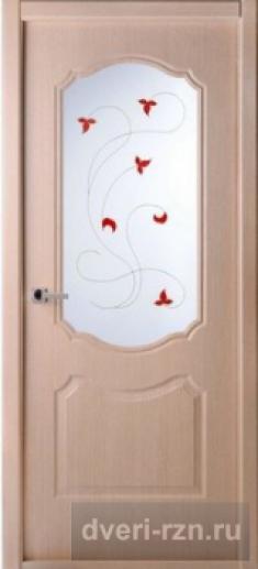Дверь Перфекта остеклённая клен серебристый (экошпон)