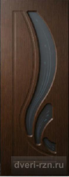 Дверь Лотос остекленная венге (ПВХ)