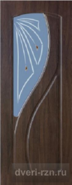 Дверь Лаура остеклённая венге