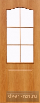 Дверь ламинированная Классик остекленная миланский орех
