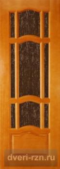 Дверь из массива Ампир остеклённая