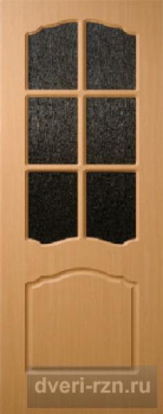 Дверь Альфа остеклённая миланский орех