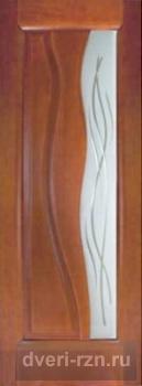 Двери шпонированная Иллюзион остеклённая темный анегри