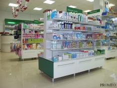 Торговое оборудование для аптек и магазинов косметики