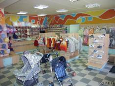 Серия торгового оборудования для магазин детских товаров в Рязани