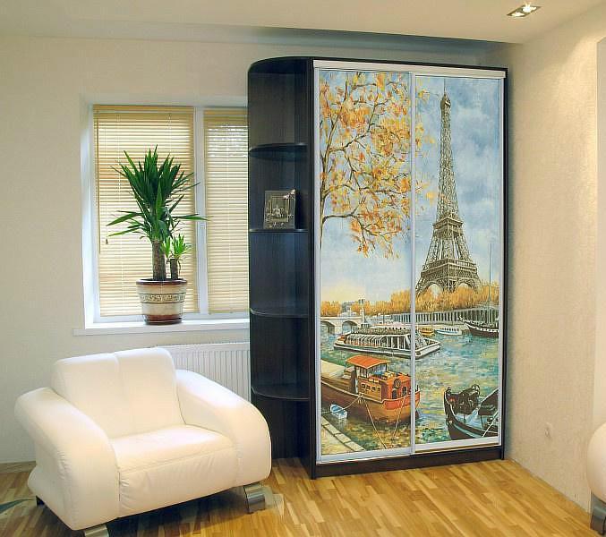 шкаф-купе с фотопечатью Париж