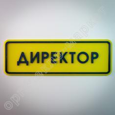 Тактильная табличка ДИРЕКТОР ПСЖ4 300х100 мм
