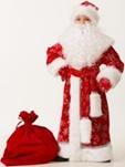 Дед Мороз велюр красный 5230