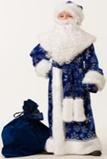Дед Мороз велюр синий 5231