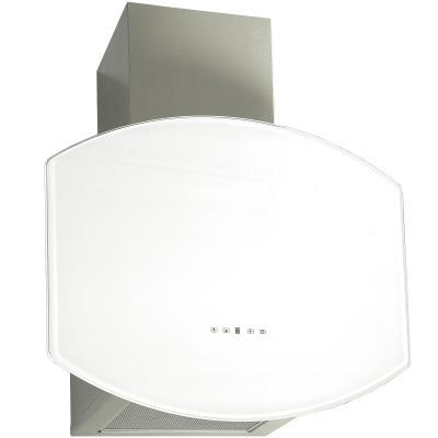 Elikor ЯНТАРЬ ОВАЛ 60 см. нержавейка - белое стекло