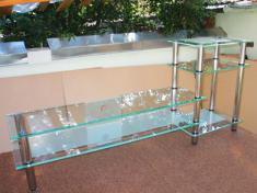 стеклянные стеллажи