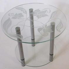столики стеклянные