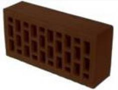 Кирпич керамический одинарный лицевой пустотелый с фаской 250х120х65