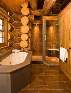 Ванная комната в рубленном доме