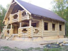 Рубленый дом - перед установкой окон