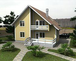дом из клееного бруса 148 м2