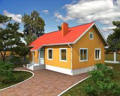 Каркасно-панельный дом 85,5 м2