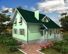 Каркасно-панельный дом 152м2