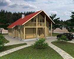 Дом из клееного бруса 190м2