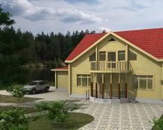 Дом из клееного бруса 268 м2