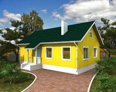 Каркасно-панельный дом 97,2 м2