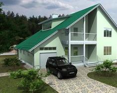 Каркасно-панельный дом 220 м2