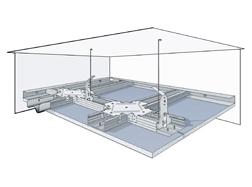 Подвесной потолок из КНАУФ-суперлистов на одноуровневом металлическом каркасе