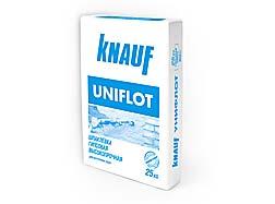 Шпаклевка гипсовая высокопрочная КНАУФ-Унифлот.