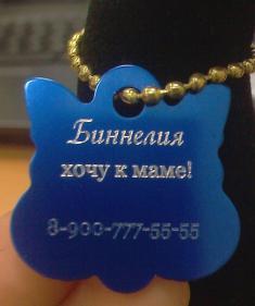 медальон для животного