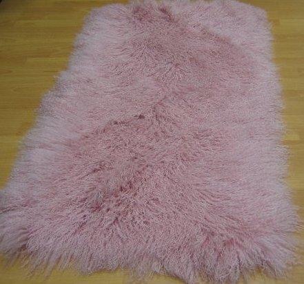 Овчина Тибетская розовая