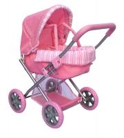 Коляска для куклы Melobo корзина, розовая, сетка 59см (9369)