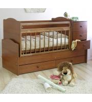 Кровать-трансф. детская Кирюша С859, коричневый