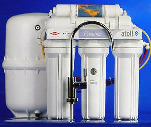 Система обратного осмоса, 5 ступеней очистки, насос повышения давления, 260 л.сутки