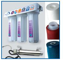 Трехступенчатые картиджные фильтры Гейзер 3 с ультрафиолетовой лампой